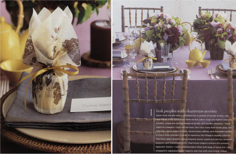 Weddings Winter 2005 issue I found these great color palette ideas