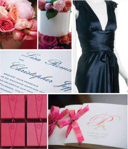 Pink Flowers and cakes by Bella Sera Weddings, Favors by Rebecca Thuss,