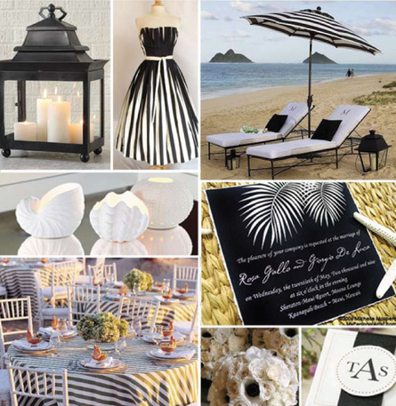 inspired by the black and white umbrellas from Crate Barrel Stripes