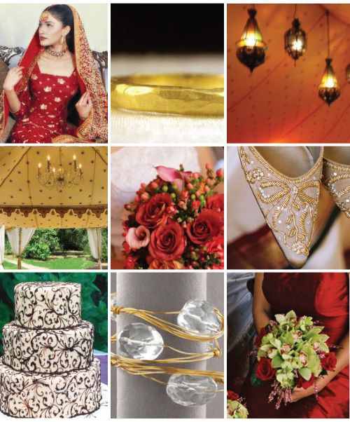 India Top Row Wedding Attire by Sila Ring by Page Sargisson